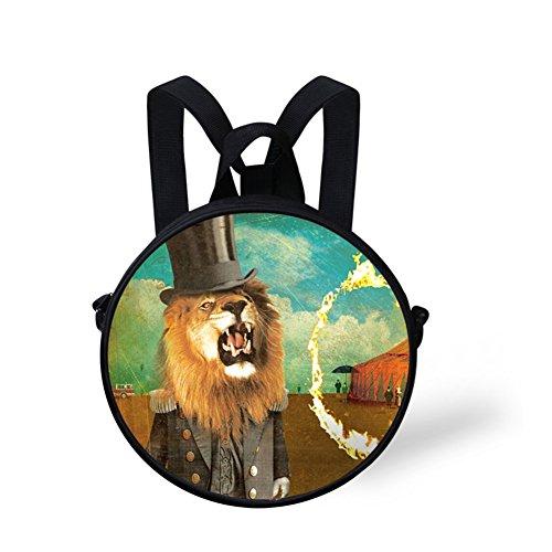 and V6lc603i Stylish Bag FunnyPrint Handbag Shoulder Cute Girls Print Casual Round Women gnx1qx4