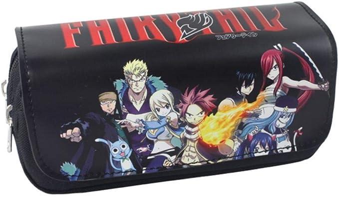Anime Fairy Tail Natsu Erza Estuches Cosméticos Estuche De Dibujos Animados Bolsa De Almacenamiento Niños Niñas Estuche De Lápices Niños Maquillaje Bolsa Estuches para Niños: Amazon.es: Hogar