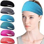 Workout Headbands for Women & Men, Cooling Headbands, Exercise Headbands, Sports Moisture Wicking Workout