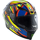 AGV Corsa Adult Double Face Winter Test LE Rossi Street Motorcycle Helmet - Yellow/Black/Blue / Medium/Large