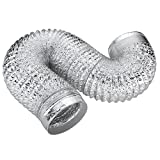 MyLifeUNIT Metallic Dryer Vent Duct, 4 inch Flexible Duct Hose, 10 Ft