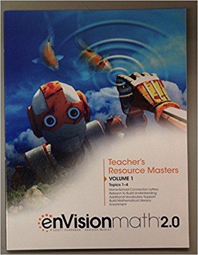EnVision Math 2 0 Teacher S Resource Masters Grade 6 Volume