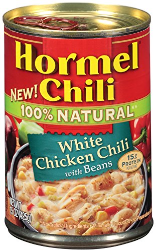 Hormel Natural White Chicken Chili with Beans, 15 Ounce (Pack of 8) Canned White Bean Soup