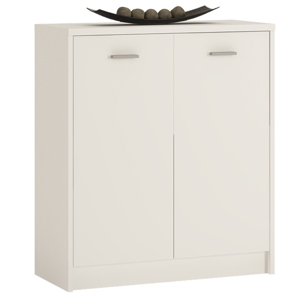 Furniture To Go 4 YOU 2-Door Cupboard with Melamine, 74 x 86 x 35 cm, Pearl White Wojcik 4050321