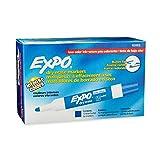 EXPO Marker Dry-Erase, Low Odor Dry Erase Marker Bullet, 12 Pack, Blue (82003)