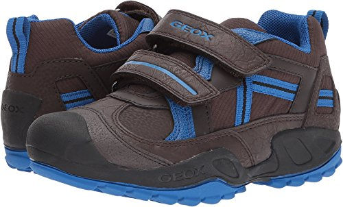 Geox Boys' New Savage 5 Sneaker, Coffee/Royal, 34 M EU Big Kid (3 US)