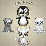 Funny Arctic Animals Cartoon Home Decal Vinyl Sticker 12'' X 12''