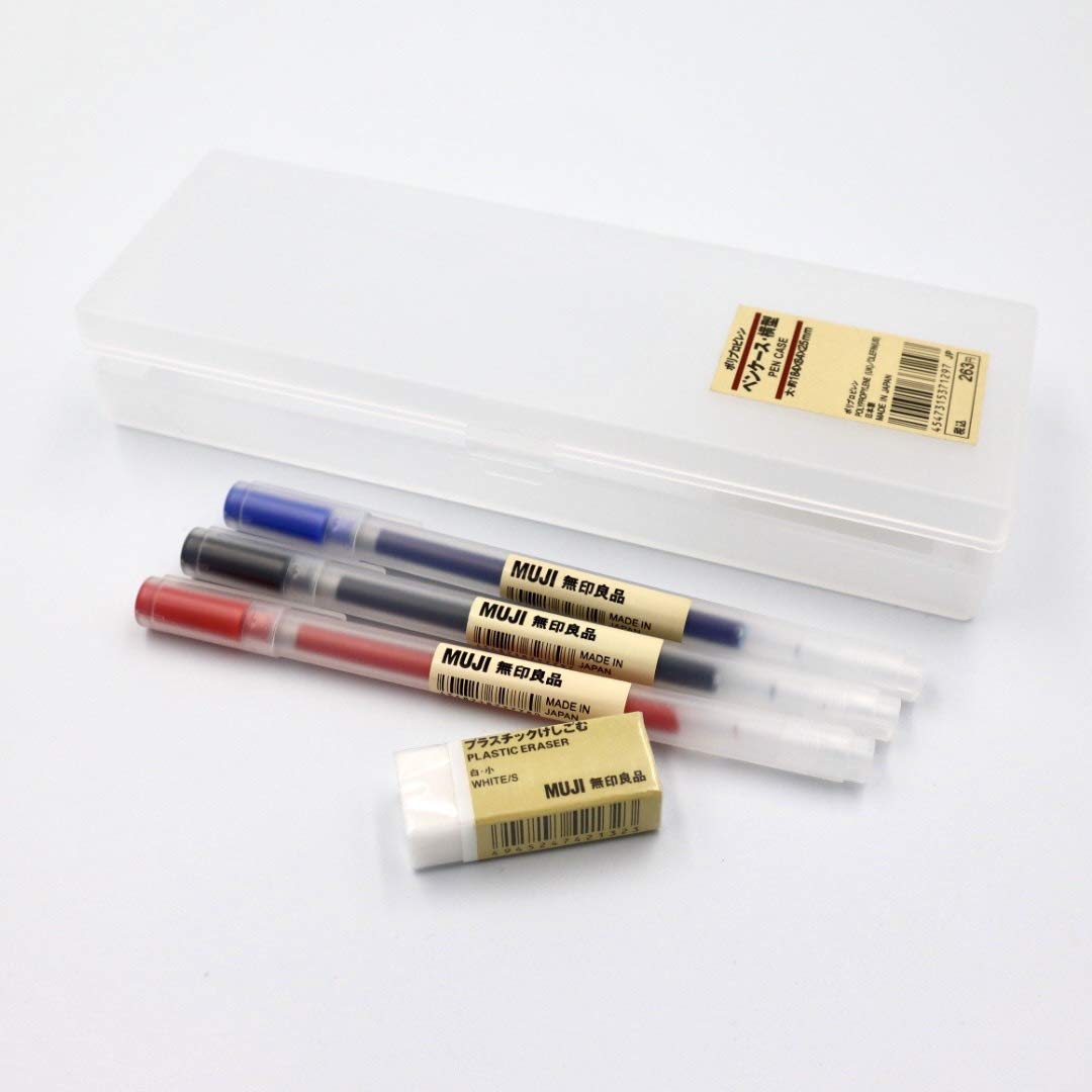 MUJI Large Size 184 X 64 X 25mm Pen Case