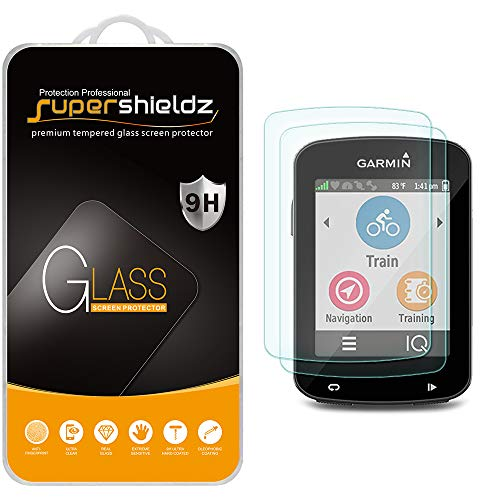 (2 Pack) Supershieldz for Garmin Edge 520, Edge 520 Plus and Edge 820 Tempered Glass Screen Protector, Anti Scratch, Bubble Free