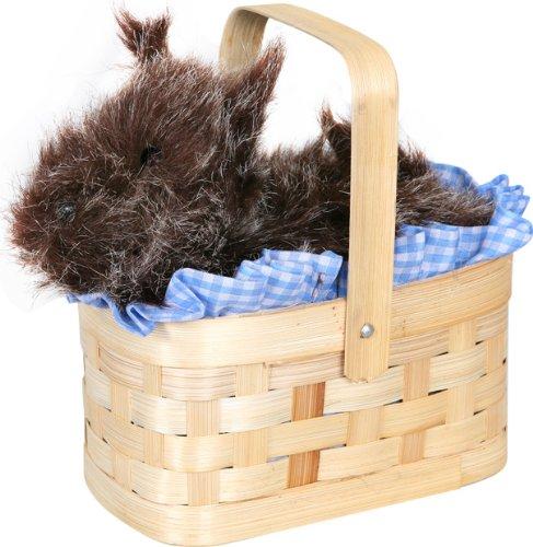 Basket Handbag with Dog -