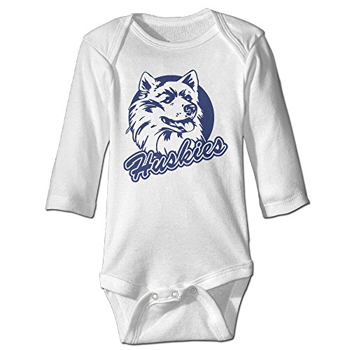 Price comparison product image OOKOO Baby's University Of Connecticut Huskies Bodysuits White 24 Months
