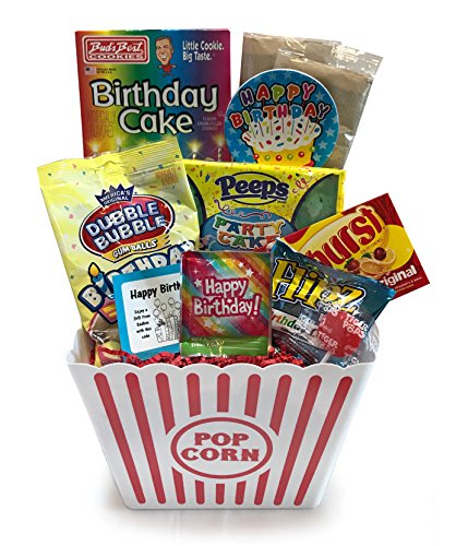Birthday Gift - Birthday Care Package - Campus Care Package - Birthday Movie Night - Lots of Selections (Birthday Popcorn Deluxe Gift)