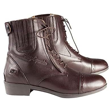 Horze Hamptons Jodhpurs Unisex Lace Up Boots - Brown