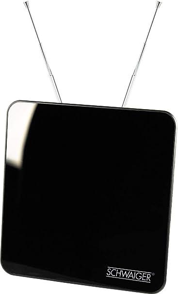 Schwaiger ZA8970 011 - Antena interior activa DVBT (45 dB), color negro