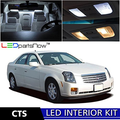 LEDpartsNow 2003-2007 Cadillac CTS LED Interior Lights Accessories Replacement Package Kit (14 Pieces), - Cadillac Cts Base Trim