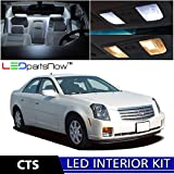 Cadillac CTS 2003-2007 Xenon White Premium LED Interior Lights Package Kit (5 Pieces) + TOOL
