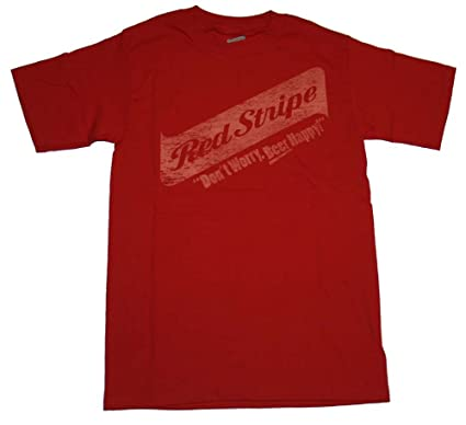 Amazon.com: Mens Red Stripe Beer Happy T-shirt: Clothing