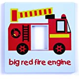 Red Fire Engine Light Switch Cover