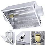 xl air cooled hood - 6 Inches HPS MH Grow Light Air Vents Cooled Reflector Hood Large Reflective Surface White Panels w/ Glass for 250W 400W 600W 1000W Growing Lighting System