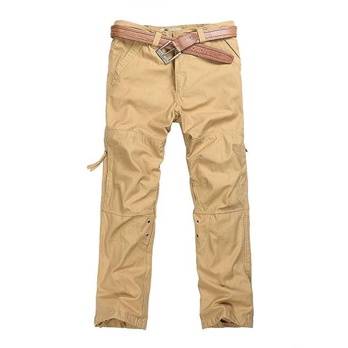 BIRAN Pantalones Casuales para Hombres Cierre Pantalones ...