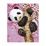 MonkeyJack Large Art Paint By Numbers Digital Oil Painting Picture On Canvas no framed - Panda