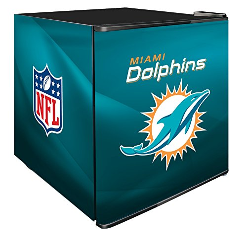 NFL Miami Dolphins Refrigerated Counter Top Cooler, Small, Aqua by SG Merchandising Solution