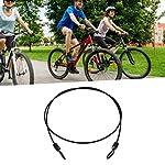 Biunixin-Lucchetto-per-Bicicletta-Lucchetto-per-Cavo-di-Sicurezza-in-Acciaio-Inossidabile-per-CiclismoNero