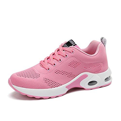 正当化するモニター第九運動靴 レディース 軽量 エアゾール フィットネス 通勤靴 通学靴 ランニングシューズ 4cm ブラック ピンク パープル レッド 35-40