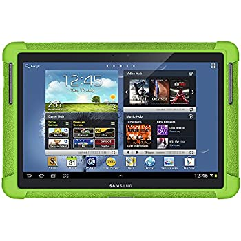 Amzer AMZ94666 Soft Silicone Jelly Skin Fit Case Cover for 10.1-Inch Samsung Galaxy Note GT-N8000/GT-N8013 - 1 Pack - Retail Packaging - Green