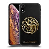 Official HBO Game of Thrones Gold Targaryen Sigils Soft Gel Case Compatible for iPhone XR