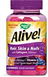 #3: Alive! Premium Hair, Skin and Nails Multivitamin with Biotin and Collagen, 60 Count