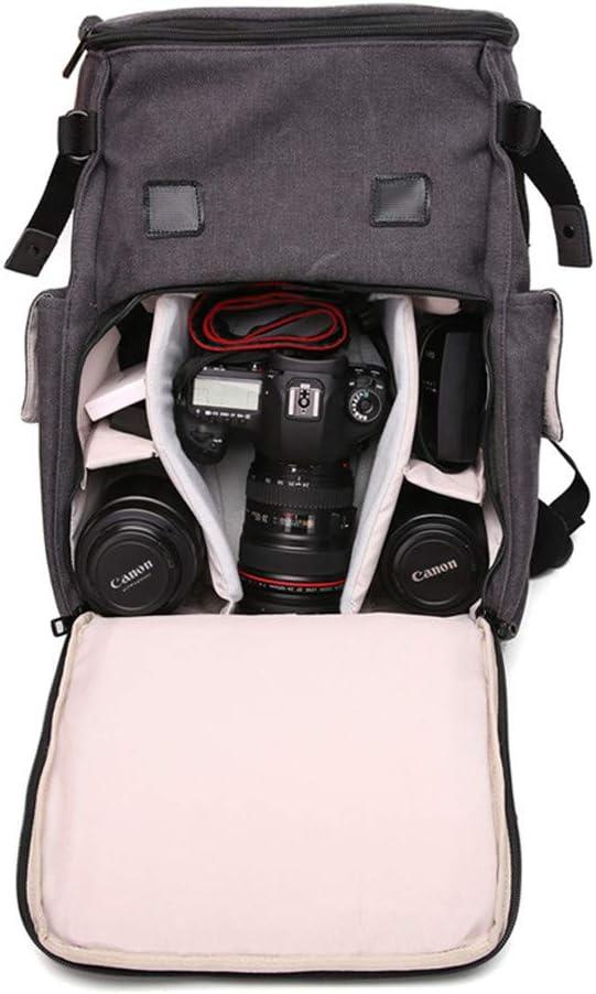 Crystalzhong-la Travel Cable Bag Waterproof Canvas SLR Casual Camera Bag SLR Camera Bag