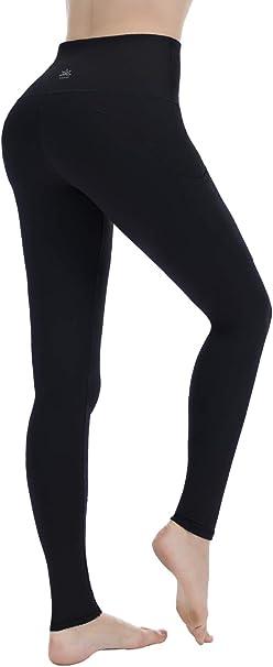 Punzymo Leggings de Sport, Pantalons de Yoga en Taille Haute à Contrôle de Ventre avec Poche pour Femme en Plusieur Couleurs