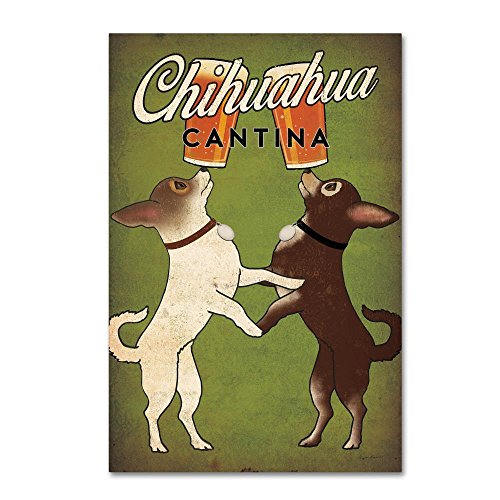 Double Chihuahua by Ryan Fowler, 16x24-Inch Canvas Wall Art