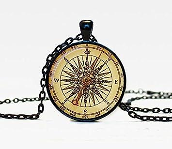 Vintage Compass Pendant Necklace Gorgeous Best Friend Gifts Elegant