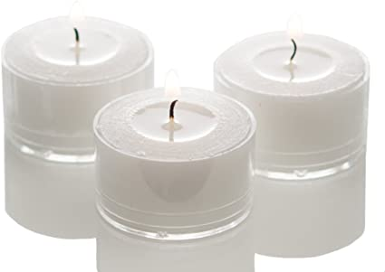 Richland Clear Extended Burn Tealight Candles White Unscented Set Of 100 Amazon Co Uk Kitchen Home