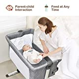 BABY JOY Baby Bedside Crib, Portable Bassinet