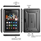 Fire HDX 8.9 Case, SUPCASE [Heavy Duty] Fire HDX 8.9 Case (4th Generation) [Unicorn Beetle PRO Series] Full-body Rugged Hybrid Protective Case Cover for Fire HDX 8.9, Black/Black