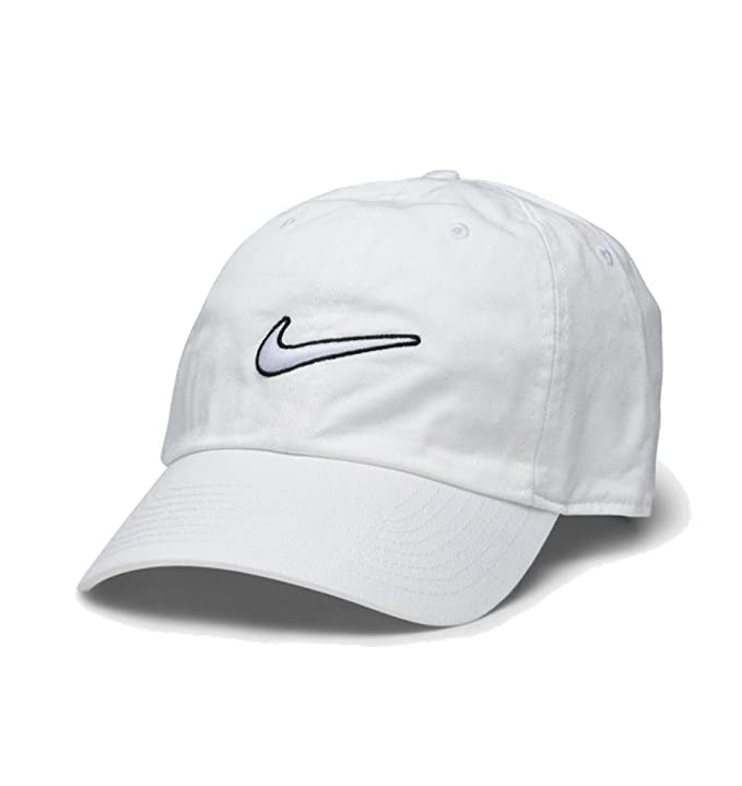 efaedb50 Nike Men's Heritage 86 Essential Swoosh Cap, White, One Size: Amazon.co.uk:  Sports & Outdoors