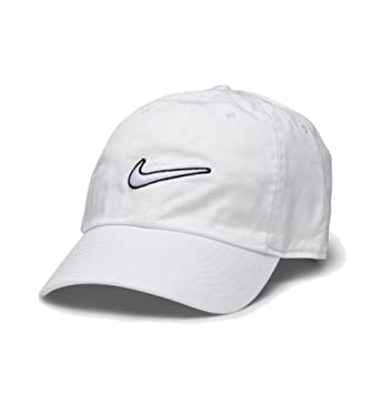 sneakers for cheap e5a33 9c69a Nike Men s Heritage 86 Essential Swoosh Cap, White, One Size