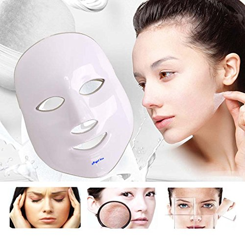 Angel Kiss LED Photon Therapy 7 Color Light Treatment Skin Rejuvenation Whitening Facial Beauty Daily Skin Care Mask (Mask+ Portable Function Board) by Angel Kiss (Image #5)
