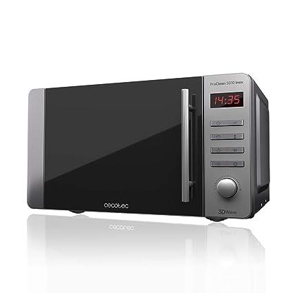 Cecotec Microondas ProClean 5010. Capacidad de 20l, Revestimiento Ready2Clean, 800 W de Potencia, Grill 1000W, 5 Niveles Funcionamiento, 8 Programas, ...