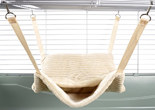 Little Friends Fluffy Lined Hammock with Pouch, Damask TK502982
