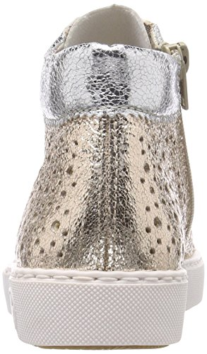 Bianco Donna fog Collo Alto silber Rieker A gold Sneaker M79k5 6xwFYFqCT