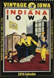 Vintage Iowa Hawkeyes 2018 College Football Calendar: Football Game-day Program Art: 1900s to 1970s