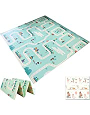BEKOBABY Baby Folding Mat Play mat Extra Large Foam Playmat Baby mat Reversible Waterproof Portable Double Sides Kids Baby Toddler Outdoor or Indoor Use Non Toxic XPE Foam Floor Gym 78 * 70In