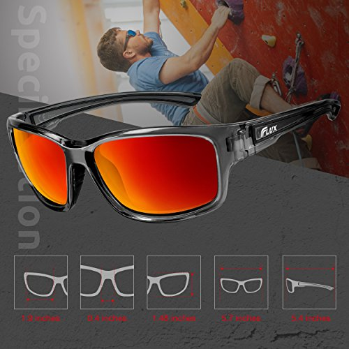 b2a193a13e9 Flux Polarized Sunglasses for Men and Women  DYNAMIC Series with  Polycarbonate Lens and Anti-