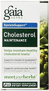 Gaia Herbs Cholesterol Maintenance Liquid Phyto-Capsules, 60 Count
