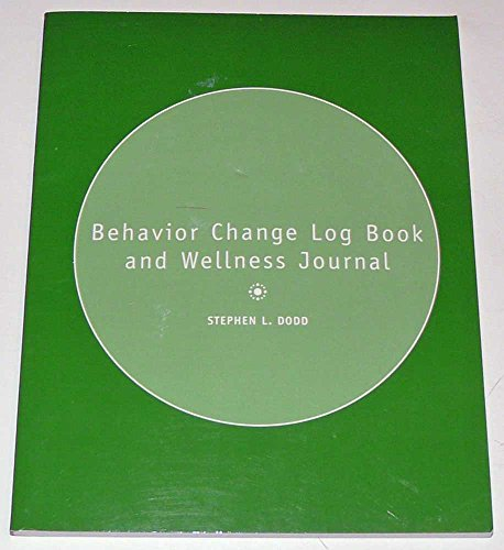 Behavior Change Log Book and Wellness Journal