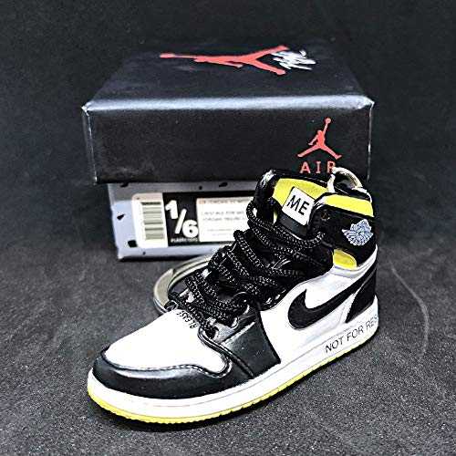 Air Jordan 1 I High Retro NRG Not For Resale Yellow OG Sneakers Shoes 3D Keychain Figure With Shoe Box (Jordan 1 Retro High Gold Top 3)
